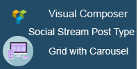 Visual Composer - Social Stream Post Type Grid and Carousel