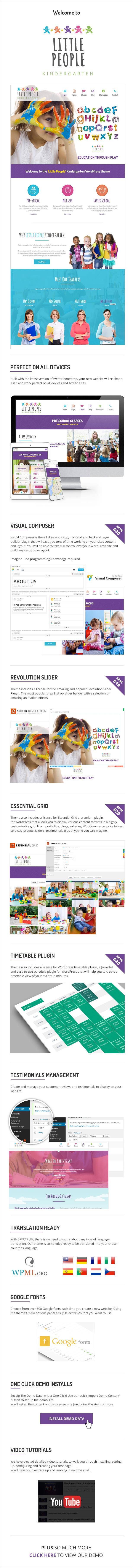 Little People   Kindergarten WordPress Theme for PreScool and infants, nurseries and play school - 3