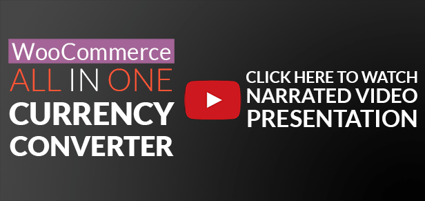 WooCommerce All in One Currency Converter video presentation