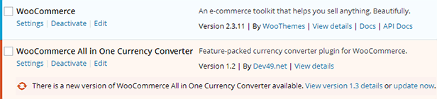 WooCommerce All in One Currency Converter - automatic updates
