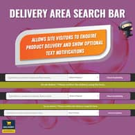 Delivery Area Search Bar