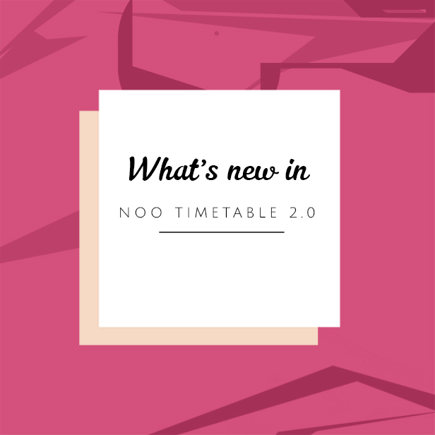 Noo Timetable - Responsive WordPress Timetable Plugin