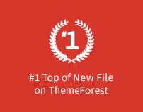 Proud to be No. 1 in the top of new files on ThemeForest