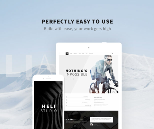 Minimal Creative Black and White WordPress Theme - easy to use and friendly user interface