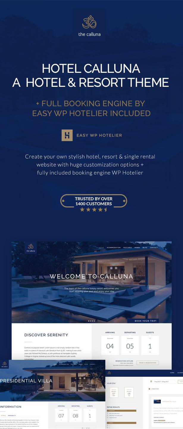 Hotel Calluna - Hotel & Resort & WordPress Theme - 1