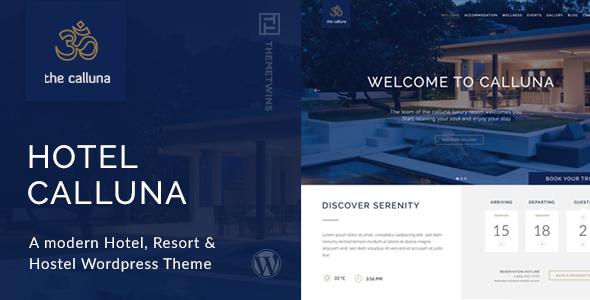 Calluna - Hotel & Resort WordPress Theme