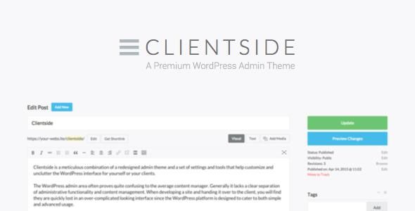 Clientside - WordPress Admin Theme