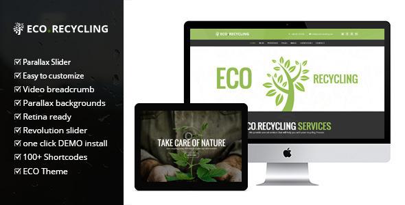 Eco Recycling - Ecology & Nature WordPress Theme