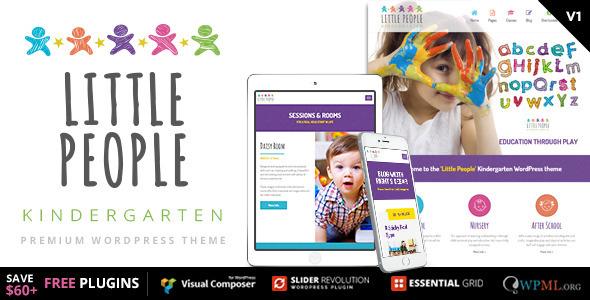 Little People   Kindergarten WordPress Theme for PreScool