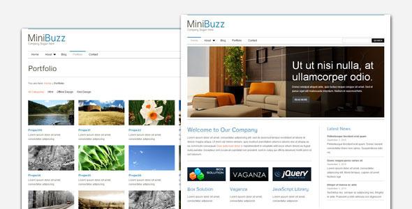 MiniBuzz - Minimalist Business WordPress Theme