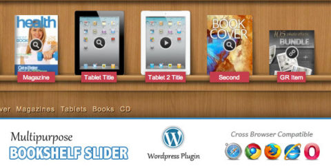 Multipurpose Bookshelf Slider - Wordpress Plugin