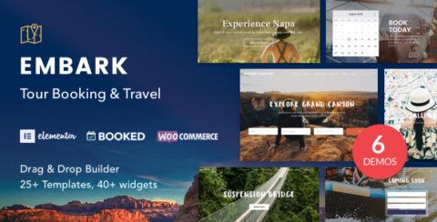 Tour Booking & Travel WordPress Theme - Embark