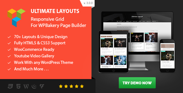 Ultimate Layouts - Responsive Grid & Youtube Video Gallery - Addon For WPBakery Page Builder