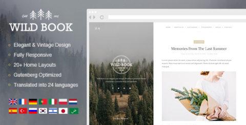 Wild Book - Vintage & Elegant WordPress Blog Theme