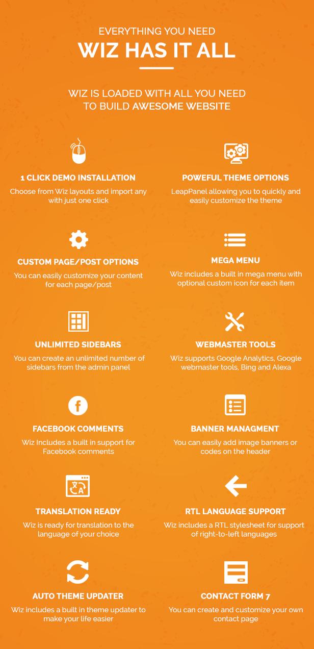 Wiz - The Smart Multi-Purpose WordPress Theme - 19