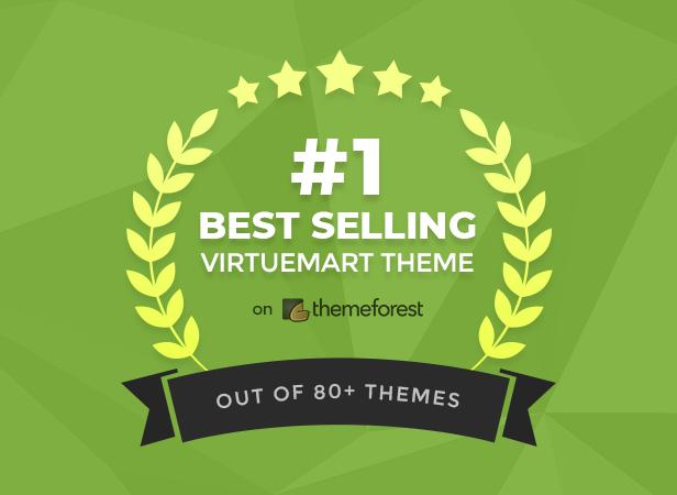 #1 Best Selling VirtueMart Theme on Themeforest