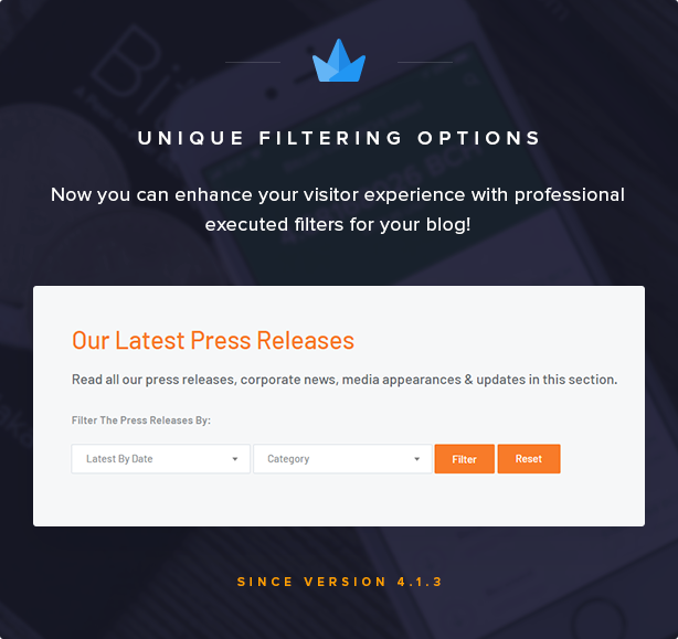 Blog Filters