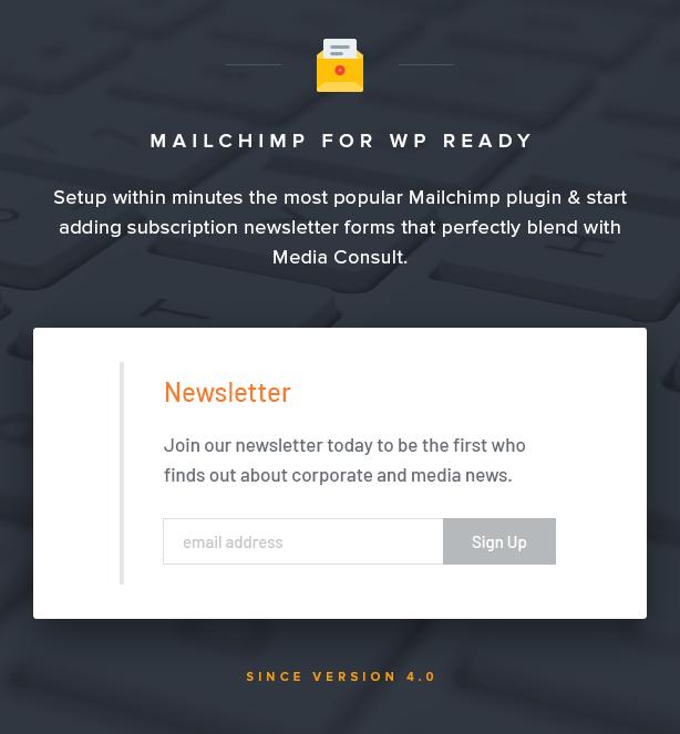 Mailchimp Newsletter