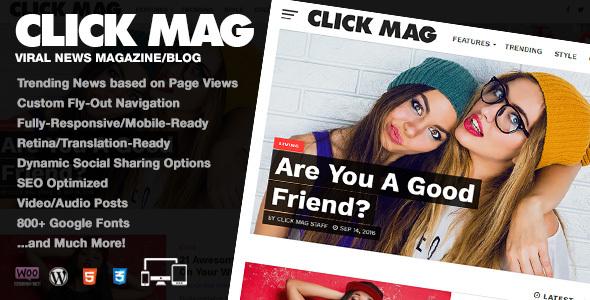 Click Mag - Viral WordPress News Magazine/Blog Theme