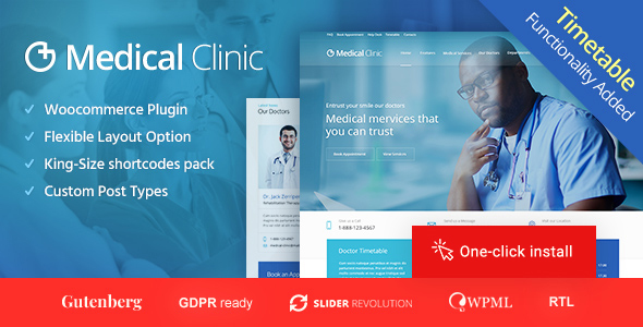Medical Clinic - Doctor and Hospital Health WordPress Theme