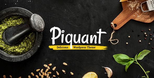 Piquant - Restaurant, Bar & Café Theme