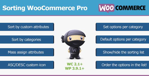 Sorting WooCommerce Pro