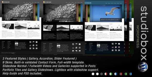 Studio Box   WordPress Theme