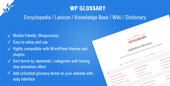 WP Glossary - Encyclopedia / Lexicon / Knowledge Base / Wiki / Dictionary