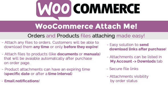 WooCommerce Attach Me!