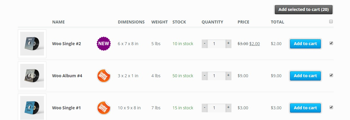 Woocommerce Products List Pro Front End