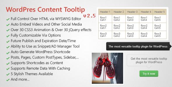 WordPress Hover Image & Content Tooltip Plugin
