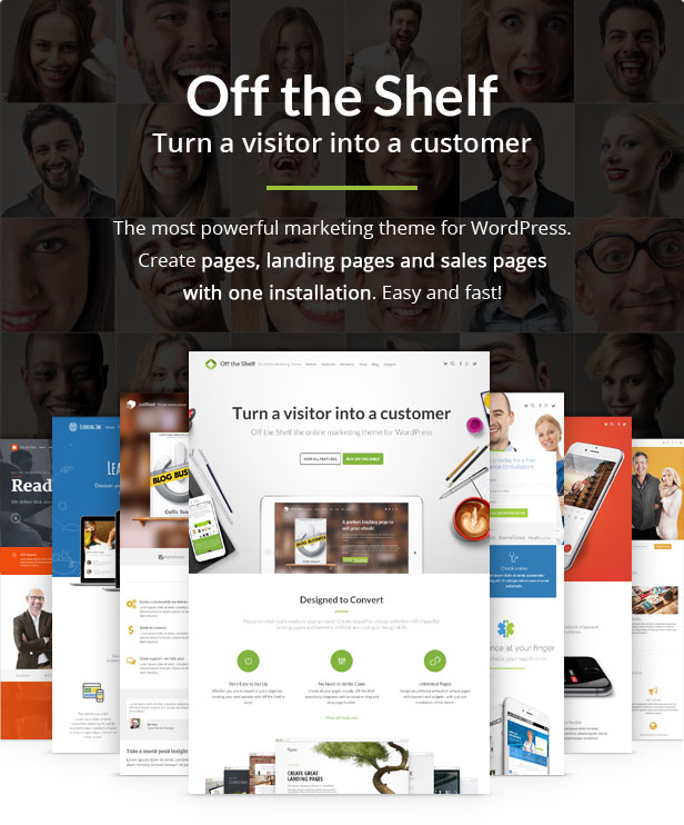 Off the Shelf The Online Marketing Theme - Landing Pages, Online Marketing, Product Landing Pages