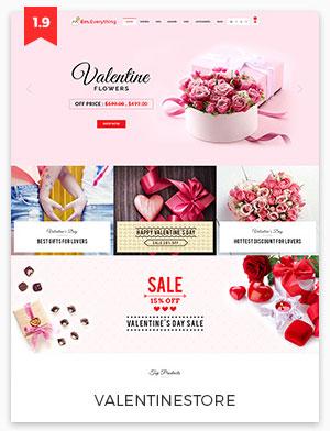 valentine store magento theme 1.9