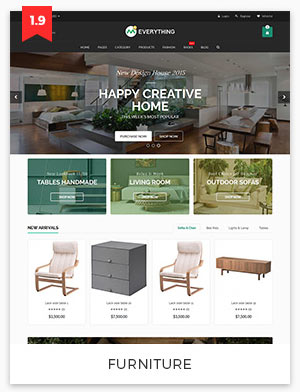 furniture magento theme 1.9