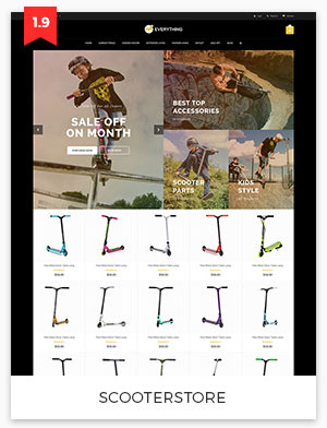 scooter store magento theme 1.9