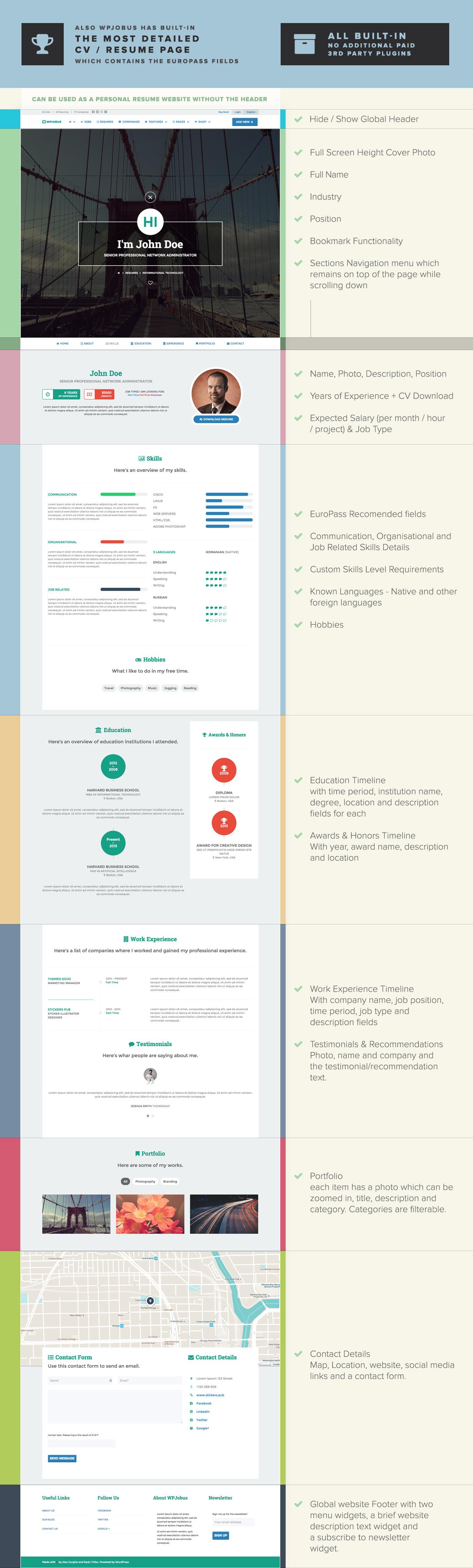WPJobus - Job Board and Resumes WordPress Theme - 8