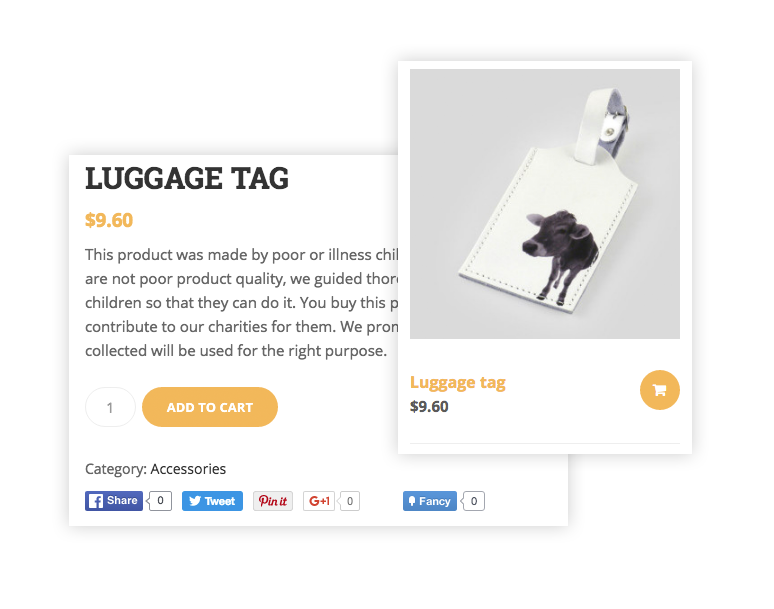 Charity WordPress Theme with WooCommerce support