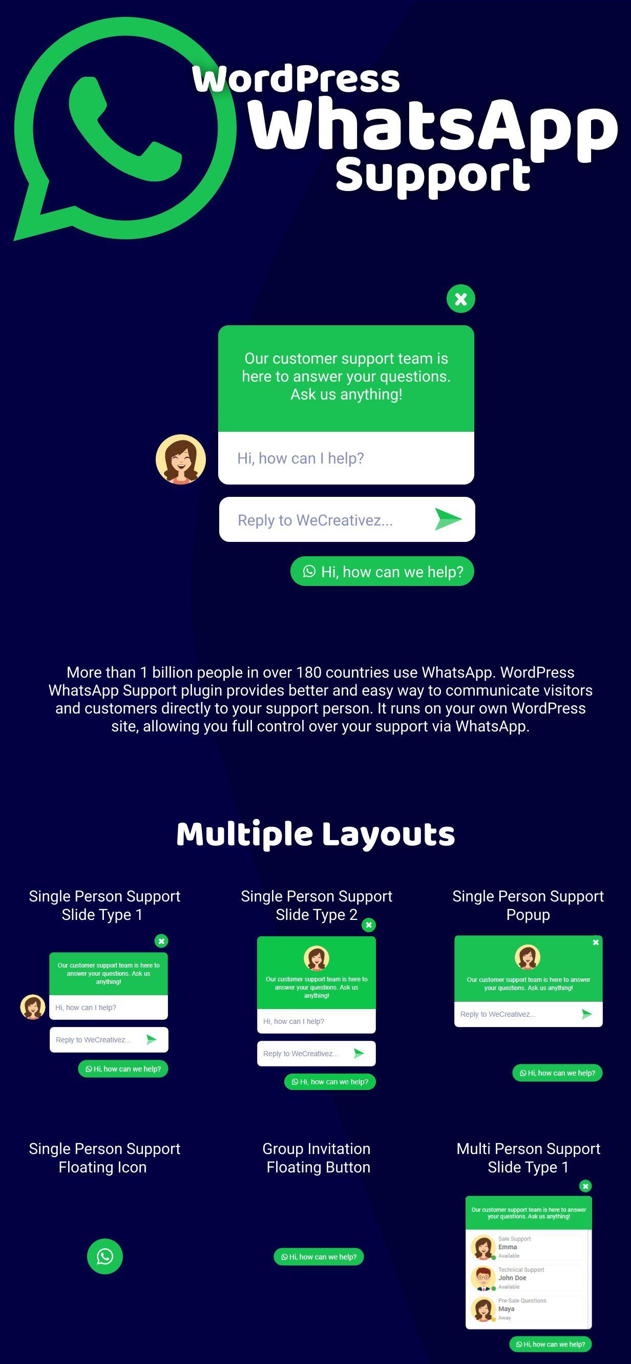 WordPress WhatsApp Support - 1