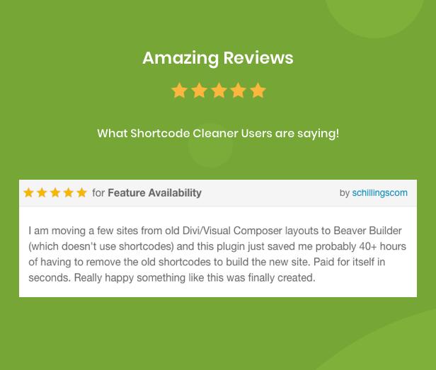 Shortcode Cleaner - Clean WordPress Content from Broken Shortcodes - 10