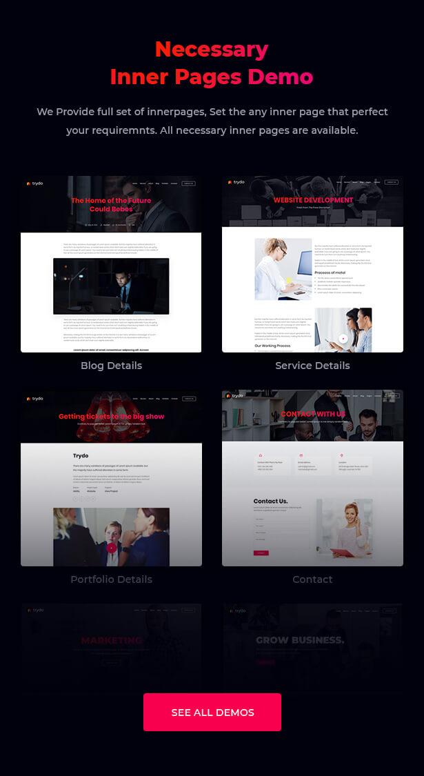 Trydo - React Creative Agency and React Portfolio Template - 8