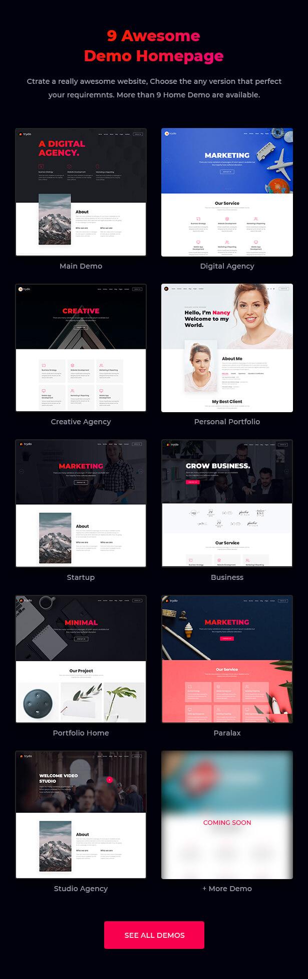 Trydo - React Creative Agency and React Portfolio Template - 7