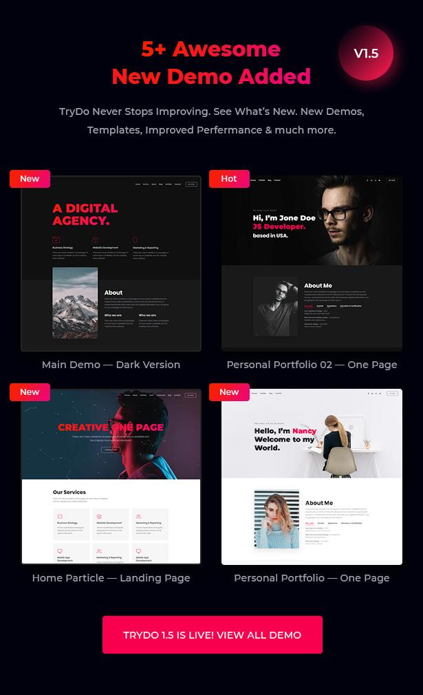 Trydo - React Creative Agency and React Portfolio Template - 4
