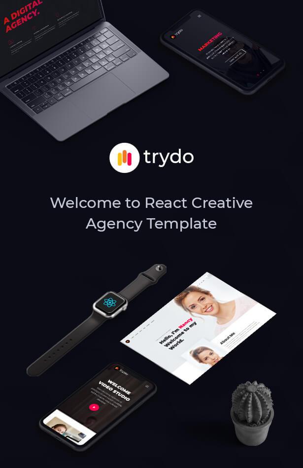 Trydo - React Creative Agency and React Portfolio Template - 6