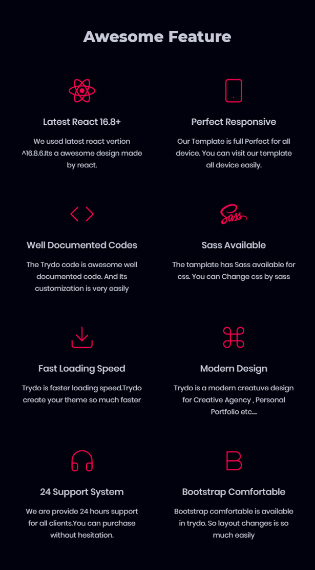 Trydo - React Creative Agency and React Portfolio Template - 10