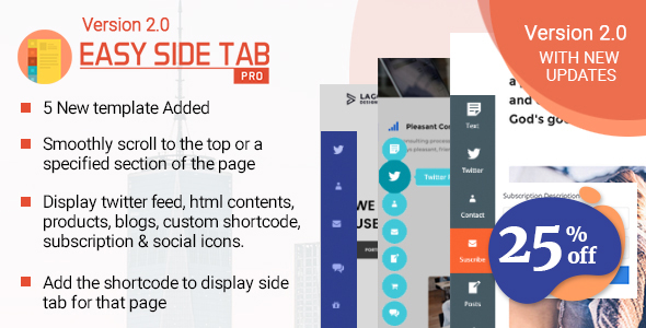 Easy Side Tab Pro - Responsive Floating Tab Plugin For Wordpress