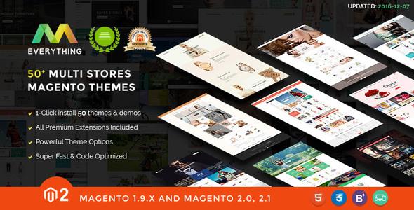 Everything   Multipurpose Responsive Magento Themes Bundle
