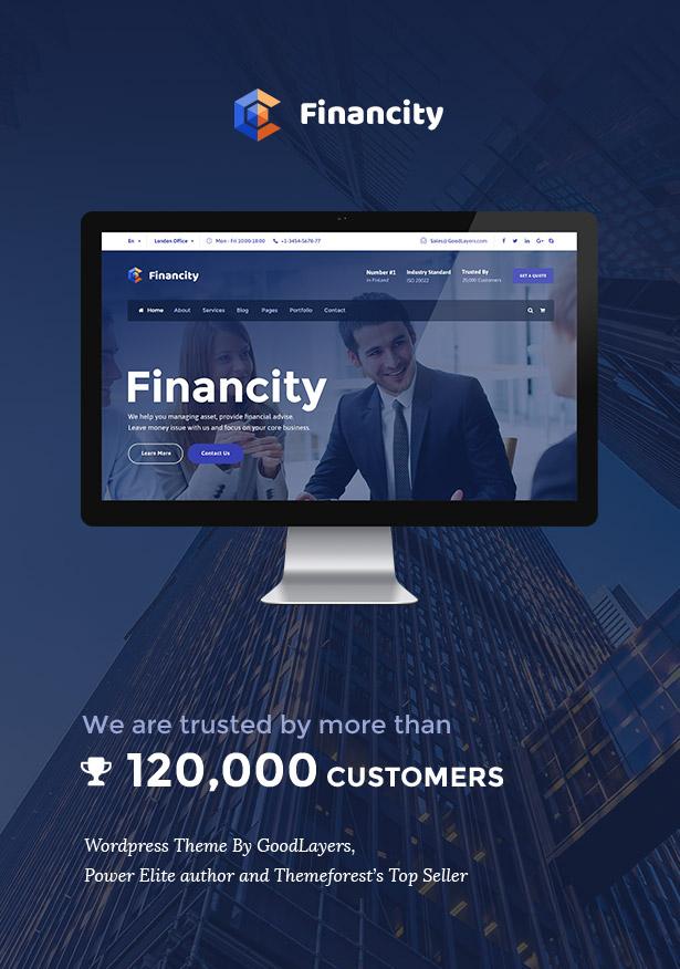 Financity - Business / Financial / Finance WordPress - 1
