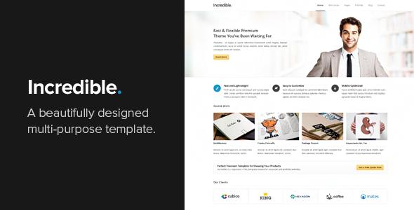 Incredible - Responsive HTML Template