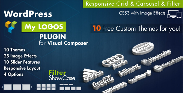 Logos Showcase for Visual Composer WordPress