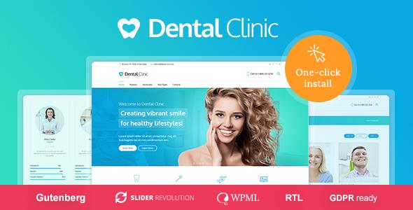 Medical & Dentist WordPress Theme - Dental Clinic